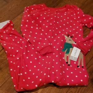 Carters Red Polka dot Footed Pajamas